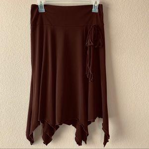 My Michelle Chocolate Asymmetrical Skirt